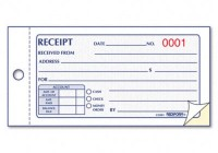 Taxi waiver receipt books