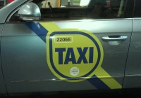 Taxi Door Signage NTA Approved